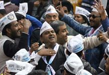 Aam Aadmi Party supporters celebrate AAP's win in the capital | Photo: Praveen Jain | ThePrint