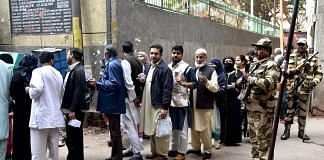 Voting during Delhi assembly election