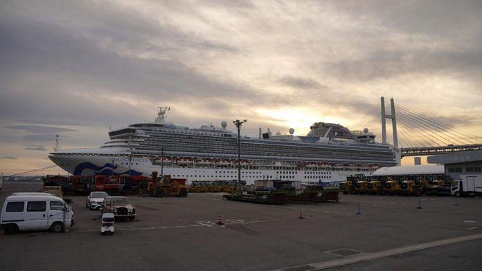 The Diamond Princess cruise ship, operated by Carnival Corp., sits docked in Yokohama, Japan, on Wednesday, Feb. 12, 2020. Photographer: Toru Hanai/Bloomberg