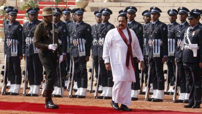 Sri Lankan Prime Minister Rajapaksa receives Guard of Honour at Rashtrapati Bhavan