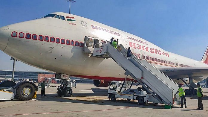 Air India plane departs for China to bring Indians