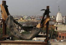 The crude catapult atop Rajdhani Public School | Photo: Manisha Mondal | ThePrint