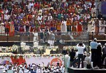 US President Donald Trump in address at the Motera stadium said that America loves India | Photo: Praveen Jain | ThePrint