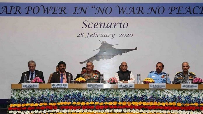 At the seminar organised by the Centre for Air Power Studies in New Delhi | Twitter: @rajnathsingh