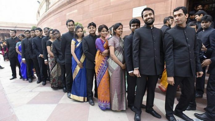 IAS officers outside the Parliament (representational image)