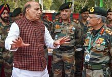 File photo of Defence Minister Rajnath Singh interacts with Army Chief General Manoj Mukund Naravane in Delhi | PTI