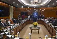 Union Home Minister Amit Shah holds a high-level meeting to discuss the prevailing situation in the national capital after violence in northeast Delhi over CAA, in New Delhi. (PTI Photo/Manvender Vashist)