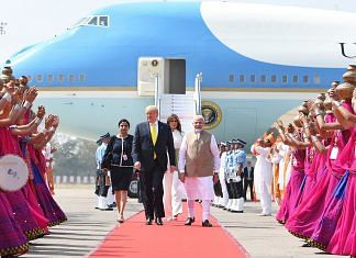 Prime Minister Narendra Modi with US President Donald Trump and First Lady Melania Trump | @narendramodi | Twitter