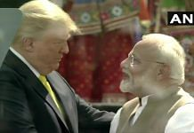 US President Donald Trump and Prime Minister Narendra Modi at the 'Namaste Trump' event at Motera stadium in Ahmedabad on 24 February 2020 | ANI | Twitter