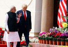 PM Narendra Modi with US President Donald Trump at Hyderabad House on 25 February 2020. Trump was on a two-day visit to India, his first ever to the country | Photo: Praveen Jain | ThePrint