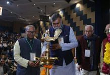 Union minister Prahlad Singh Patel at the inaugural session of an event held in New Delhi to commemorate the death anniversary of Vinayak Damodar Savarkar | Twitter: @prahladspatel