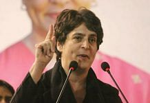 Priyanka Gandhi Vadra speaks at a Congress rally in New Delhi