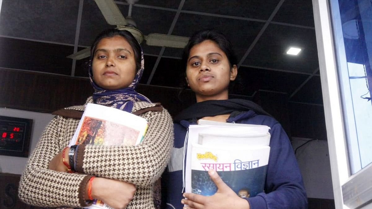 Rajni and Moni Chauhan, like thousands of other youngsters in UP, hope to realise their dreams by becoming civil servants. | Photo: Praveen Jain | ThePrint