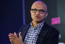 Microsoft CEO Satya Nadella speaks during a Bloomberg event on the opening day of the World Economic Forum (WEF) in Davos, Switzerland, on 21 January 2020 | Simon Dawson | Bloomberg