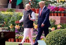 PM Modi and US President Trump at Hyderabad House Tuesday