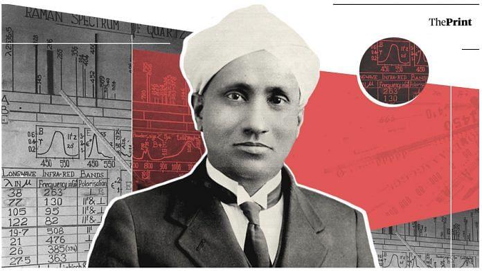 Physicist C.V. Raman. Illustration: Soham Sen