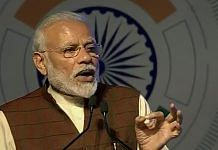 File image of Prime Minister Narendra Modi speaking during the 11th edition of DefExpo, in Lucknow in February   PTI