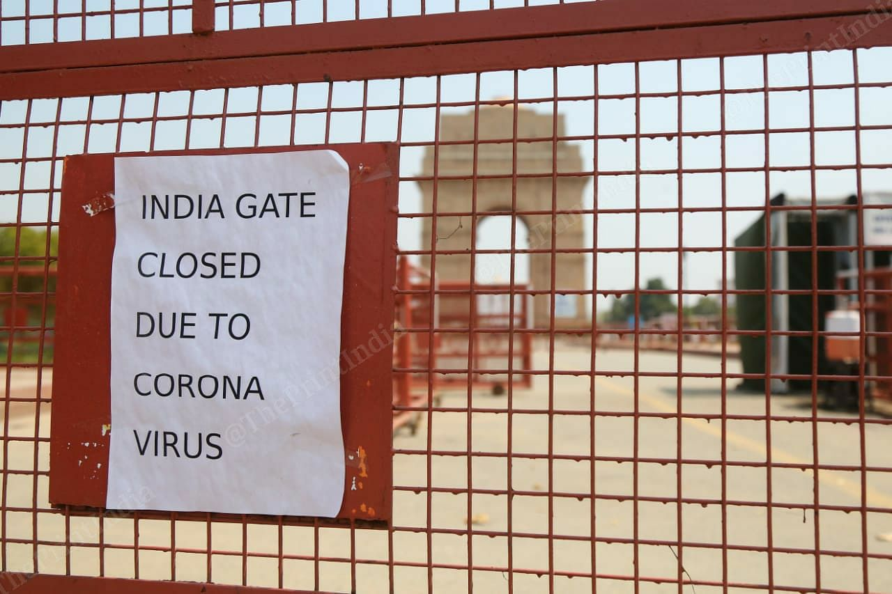 India Gate was closed for visitors earlier this week | Photo: Suraj Singh Bisht | ThePrint
