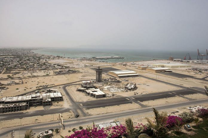 A development site near Gwadar Port, operated by China Overseas Ports Holding Co., in July 2018   Photo: Asim Hafeez   Bloomberg