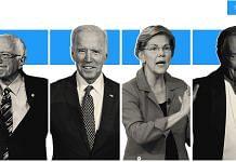 (From left) Democratic presidential candidates Bernie Sanders, Joe Biden, Elizabeth Warren and Michael Bloomberg