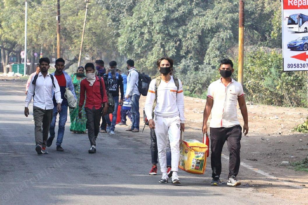 People in wear masks in Agra | Photo: Praveen Jain | ThePrint