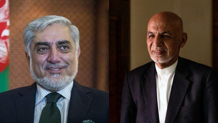 Abdullah Abudullah (L) and Ashraf Ghani (R)   Bloomberg