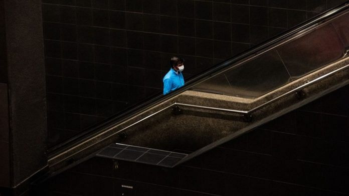 Representional image | A passenger wearing a protective mask in the Universidad de Chile subway station prior to a quarantine order in Santiago | Cristobal Olivares/Bloomberg