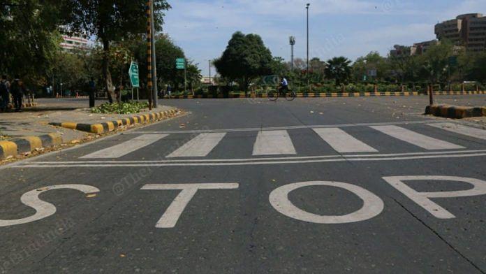 New Delhi in a lockdown due to coronavirus pandemic | Manisha Mondal | ThePrint