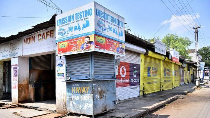 Shops and public places in Karnataka's Kalaburagi are under a strict lockdown after India's first COVID-19 death in the city on 10 March | Photo: By special arrangement