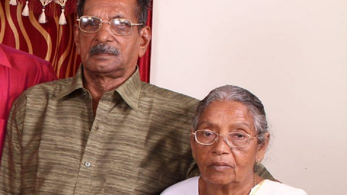 Thomas and his wife Mariyamma had contracted the Covid-19 infection from their son | By special arrangement