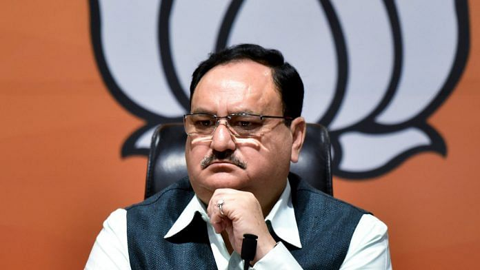 BJP president J.P. Nadda | Photo: ANI