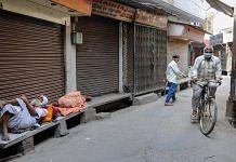 Representational image of closed shops in Amritsar, Punjab, under the lockdown | Photo: PTI