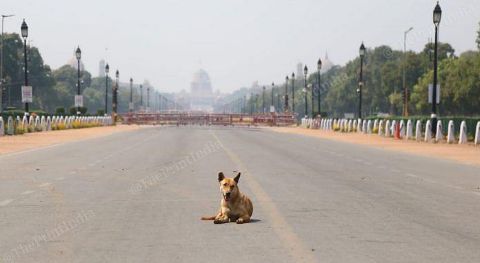 Delhi under lockdown during Janata curfew | Photo: Suraj Singh Bisht | ThePrint