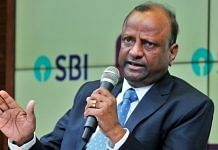 Chairman of State Bank of India(SBI) Rajnish Kumar at a press conference regarding YES Bank, in Mumbai on Saturday | ANI