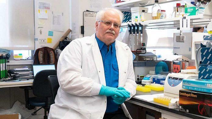 Ralph Baric at a University of North Carolina lab | Photo: Christopher Janaro | Bloomberg