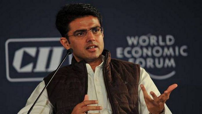 File image of Rajasthan Deputy Chief Minister Sachin Pilot | Photo: Facebook