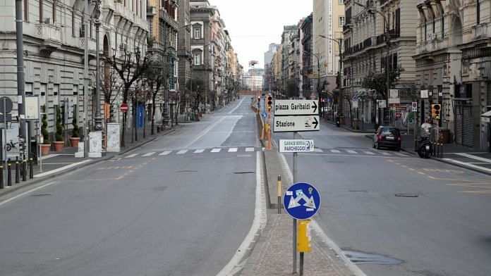 Representational image of a street in Naples that is empty due to the lockdown   ANI via Reuters