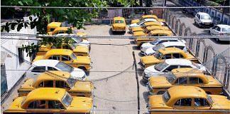 Kolkata Taxis remain parked amid the 21-day nation-wide lockdown | Representational image | PTI
