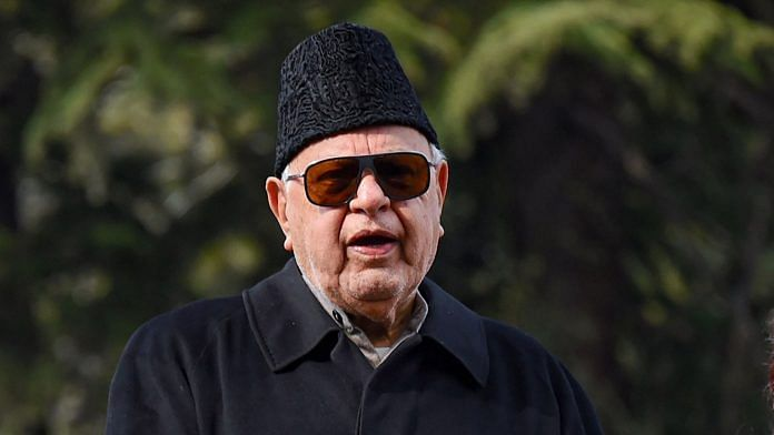 Former chief minister of J&K and National Conference president Farooq Abdullah | PTI File Photo