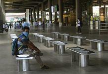 A passenger outside the Mumbai international airport | Representational image | PTI