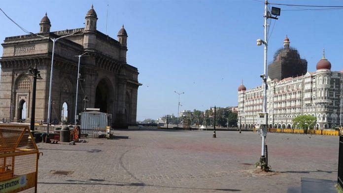 Deserted streets in Mumbai following the lockdown imposed to curb spread of coronavirus | Photo: Vasant Prabhi | ThePrint