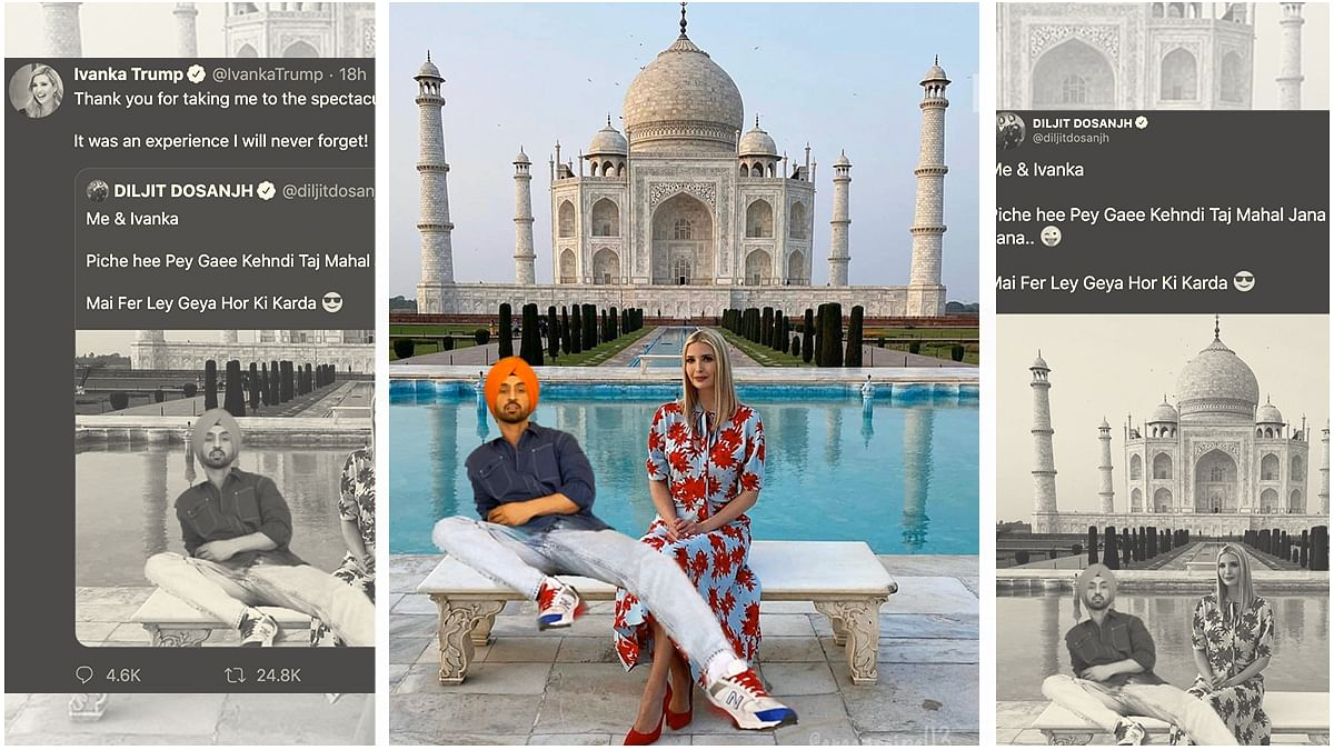Diljit Dosanjh Post Leads To Ivanka Trump Meme Fest On Twitter And She Appreciates It