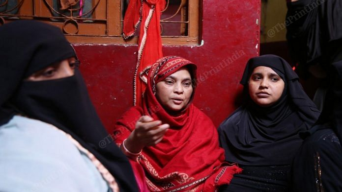 Salma, wife of Mustafabad resident Usman Saifi who was picked up Sunday night infront of the temple he has been guarding. | Photo: Manisha Mondal | ThePrint