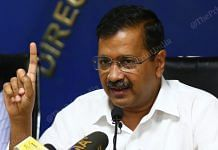 Delhi Chief Minister Arvind Kejriwal addressing a press conference in New Delhi on 19 March