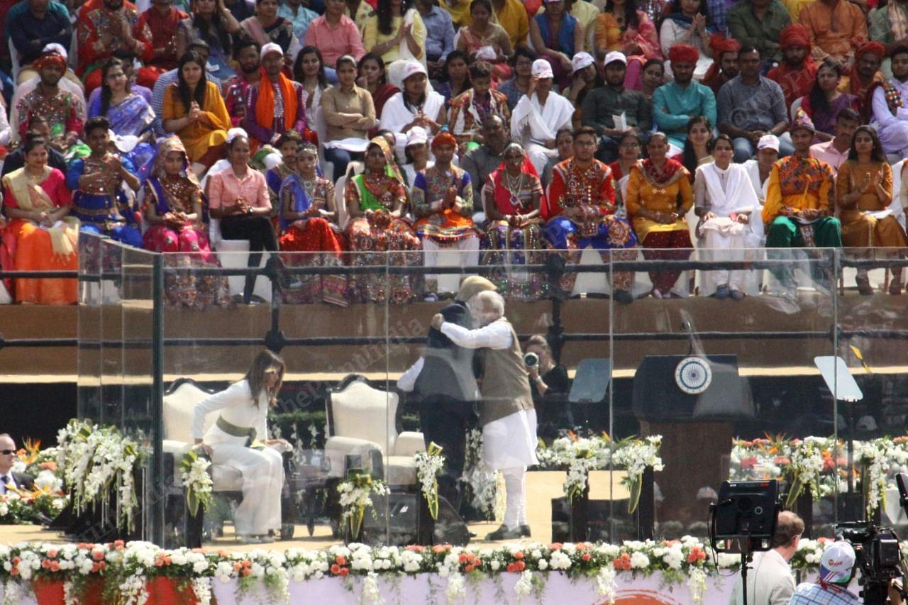 PM Modi and Trump at Namaste Trump event | Photo: Praveen Jain | ThePrint