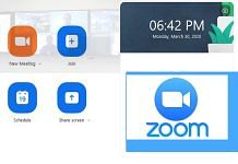 The Zoom app home screen and logo | Image: ThePrint Team