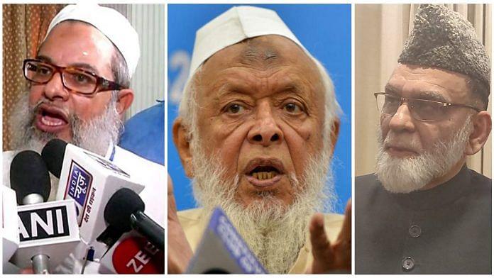 Muslim leaders Mahmood Madani, Arshad Madani and Syed Ahmed Bukhari