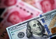 Representational image | A US one-hundred dollar banknote and Chinese one-hundred yuan banknotes | Paul Yeung/Bloomberg