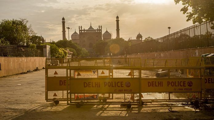 The closed Jama Masjid (Grand Mosque), as India remains under an unprecedented lockdown over the highly contagious coronavirus.   Bloomberg