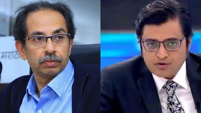 Uddhav Thackeray (L) and Arnab Goswami (R)   ThePrint